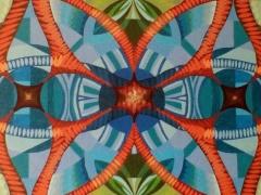 """Sigitas Orantas-Sausis """"Lotoso dangus"""" paveikslo matmenys 100X50 cm. Paveikslo kaina 540 Eur."""
