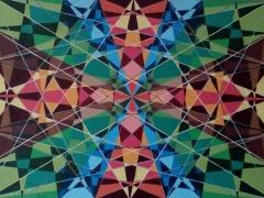 """Sigitas Orantas-Sausis """"Svajų kaleidoskopas"""" paveikslo matmenys 50X70 cm. Paveikslo kaina 440 Eur."""