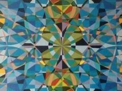 """Sigitas Orantas-Sausis """"Žaliavarlių prūdas II"""" paveikslo matmenys140X70 cm. Paveikslo kaina 710 Eur."""