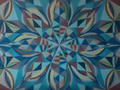 """Sigitas Orantas-Sausis """"Sniego karalienė"""" paveikslo matmenys 187X180 cm. Paveikslo kaina 830 Eur."""