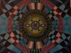 """Sigitas Orantas-Sausis """"Laiko akis"""" paveikslo matmenys 40X40 cm. Paveikslo kaina 190 Eur."""