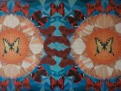 """Sigitas Orantas-Sausis """"R. Kazlausko sapnas""""/'Vaikystės paukščiai"""" paveikslo matmenys 180X80 cm. Paveikslo kaina 2100 Eur."""