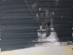 """Jolanta Sausdravienė """"1 0000 žingsnių"""" paveikslo matmenys 60X90 cm. drobė, akrilas. Paveikslo kaina 220 Eur. 2018 m."""