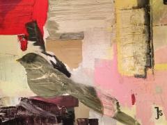 Jolanta Sausdravienė ''Langinės' paveikslo matmenys 60X80 cm. drobė, akrilas, parduotas
