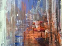 Jolanta Sausdravienė 'Pasikalbėk' paveikslo matmenys 60X80 cm. Parduotas.