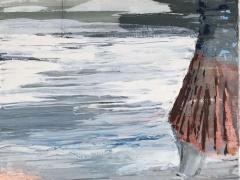 """Jolanta Sausdravienė """"Rugsėjis"""" paveikslo matmenys 70X100 cm. drobė, akrilas. Parduotas."""