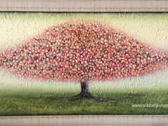 """Viktorija Jasinskaitė-Bobina """"Purpurinis ramusis"""" paveikslo matmenys 100X55 cm. Paveikslo kaina 340 Eur. Parduotas."""