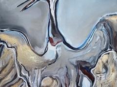 Eglė Karlonaitė paveikslas be pavadinimo paveikslo matmenys 100 X 50 cm.