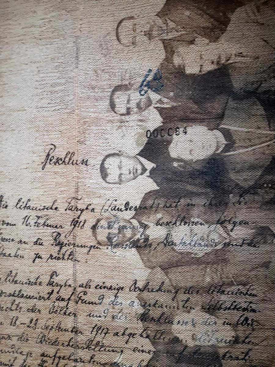 """Virginija Kirvelienė ,, Išausta laisvė. Kompozicija su 1918 m. vasario 16 d. Lietuvos Nepriklausomybės akto tekstais"""" I, II dalys, 2019"""