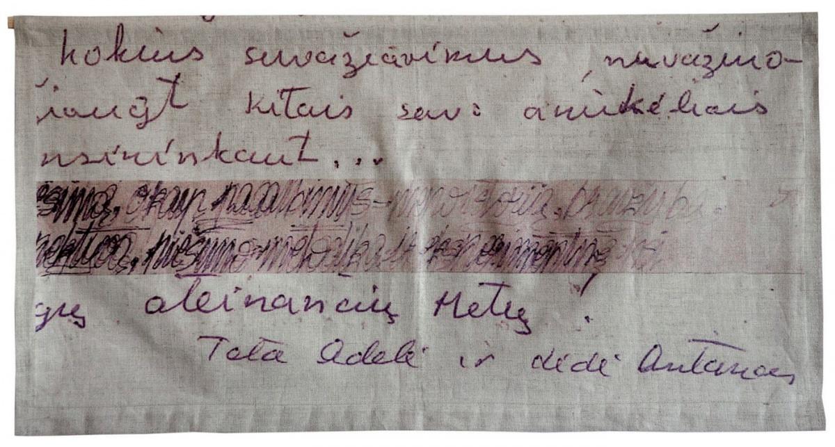 Adelės ir Antano laiškas